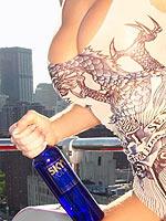 Jenna Jameson drinking Skye Vodka in New York