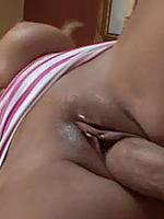 Brandy Talore xxxl tits sits her snatch on dick