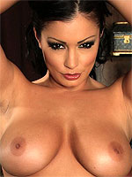 Aria Giovanni spreads her bushy pussy wide open