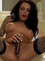 Juelz Ventura dildoing her pussy upstairs