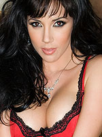 Jelena Jensen strips off her sexy red lingerie