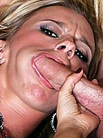 Bree Olson shares a big cock with a busty blonde
