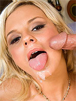 Bree Olson teasing a cock before it fucks her