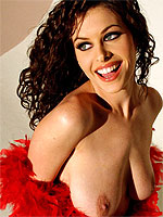 Ginger Jolie nude natural beauty wrapped in red