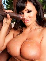 Lisa Ann rides the business man's dick
