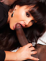 Lisa Ann riding his big black cock with pride