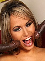 Aleska Diamond on two huge black cocks in dp drill