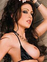 Jessica Jaymes in a sexy black leather bikini
