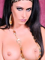Jessica Jaymes posing in her jungle jane lingerie