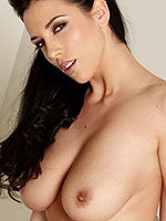 Jelena Jensen strips off her sexy brown lingerie