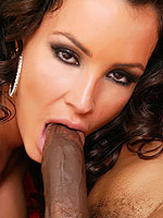 Lisa Ann has a big black cock buried in her ass