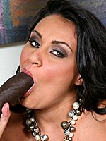 Busty Charley Chase enjoying black cock in sex act