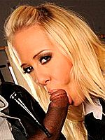 Blonde Carla Cox in footjob hardcore on black cock