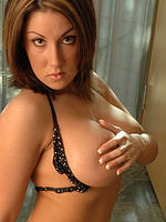 Krissy in a itty bitty polka dot bikini