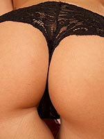 Evelyn Lory in a black thong looking hot