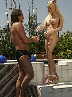 Jesse Jane gets fucked hard poolside