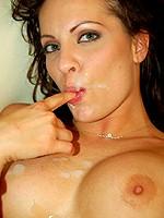 Vanessa Lane latina pornstar gets huge facial