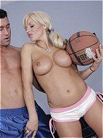 Brooke Belle shows ball handling skills