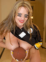 Kelly Madison is a football player with huge tits