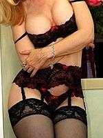 Nina Hartley pornstar in black stockings