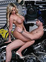 Memphis Monroe gets fucked in a garage