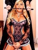 Teagan Presley blonde maid lesbian domination