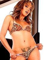 Lexi Love small tits blonde strips bikini