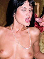 Sexy Sarah Twain sucking casanova hard cock