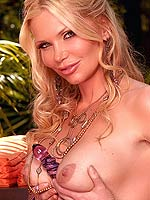 Victoria Zdrok plays with a big dildo outside