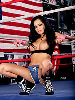 Daisy Marie strips in the boxing ring