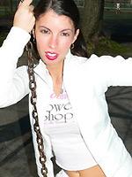 Tiffany Preston showing upskirt when on a swing