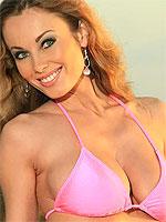 Anita Dark teasing in her pink bikini