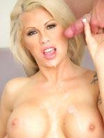 Brooke Haven press pussy on a huge bone