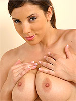 Jelena Jensen squishing her big tits