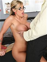 Memphis Monroe titty banged at work
