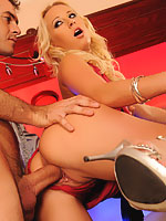 Carla Cox gets her juicy pussy fucked in the bar