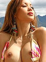 Francine Dee squishy tits pop out of her bikini