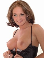 Tory Lane shows boobs in stockings