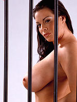 Linsey Dawn Massive Tits behind bars