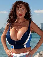 Minka Massive tits at the Beach