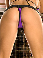 Heather Summers peels off her purple lingerie