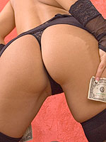 Raven Riley shows what a dollar bill can ger you