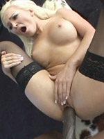 Jenna Lovely pussy stuffed by black cock