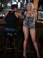 Jenny Hendrix all holes fucked in a bar