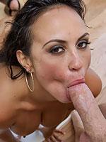 Lovely brunette Maria Milano gets banged