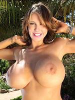 Brandy Robbins in a bikini shows her mega boobs