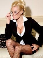 Michelle Thorne a busty secretary