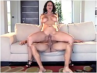 Carmella Bing sucking and riding a big cock