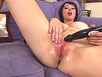 Dildo masturbation big tits