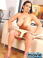 Celebrity star Aria Giovanni strips nude